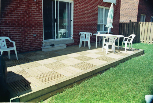Resurfaced Patio ( treated pine )