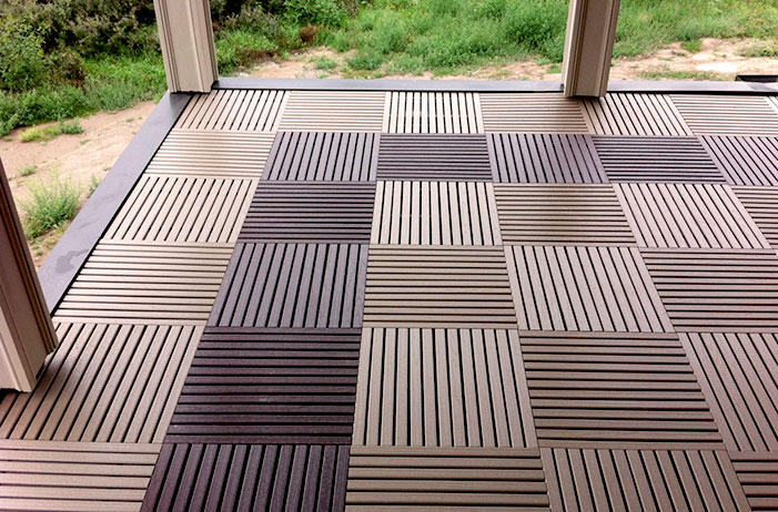 Terrace (chocolate/beige  recycled plastic  )