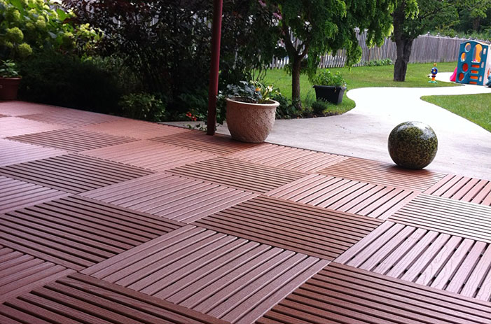 Resurfaced Patio (caramel   recycled plastic  )