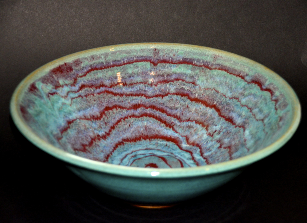 Wave Glaze Ceramic Bowl
