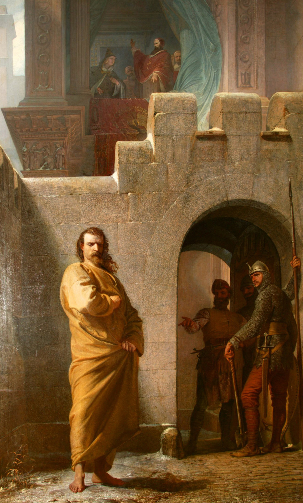 Eduard Schwoiser painting 1852 King Henry IV to Canossa.