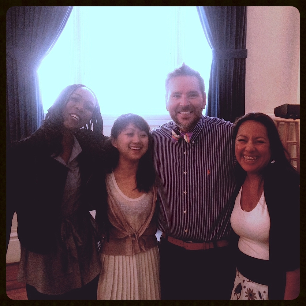 From left to right: Jackie Holden, Carol Wang, some dude, Mar Carmona Nájera