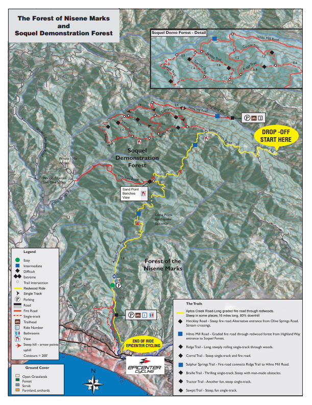 The Forest of Nisene Marks and Soquel Demonstration Forest