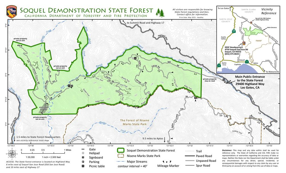 Soquel Demonstration Forest Map