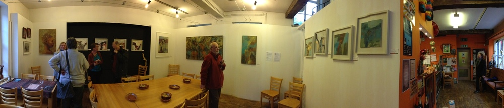 180 degree view of the exhibition