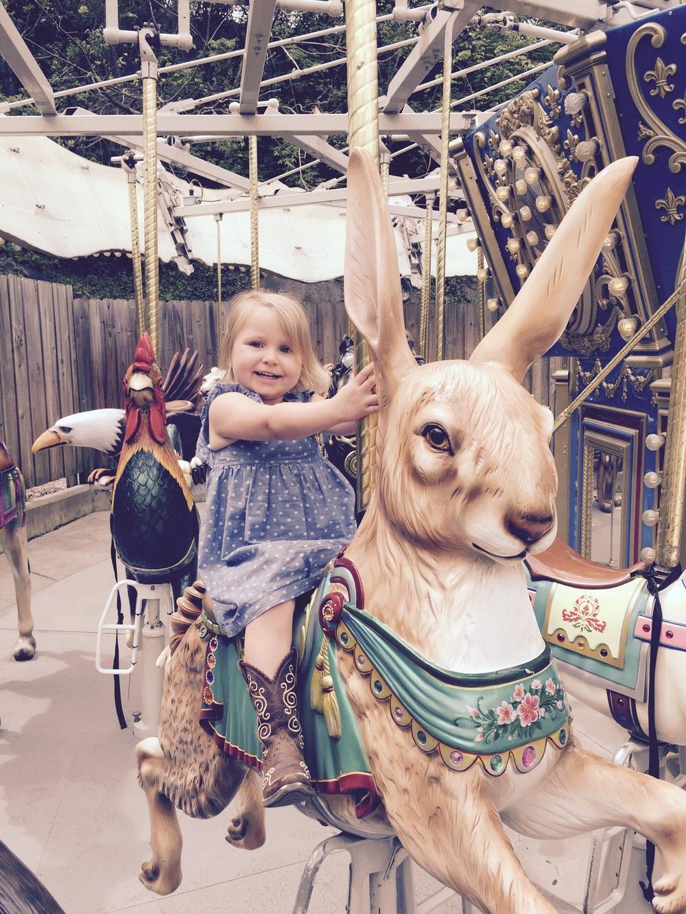 She loves the carousel!!