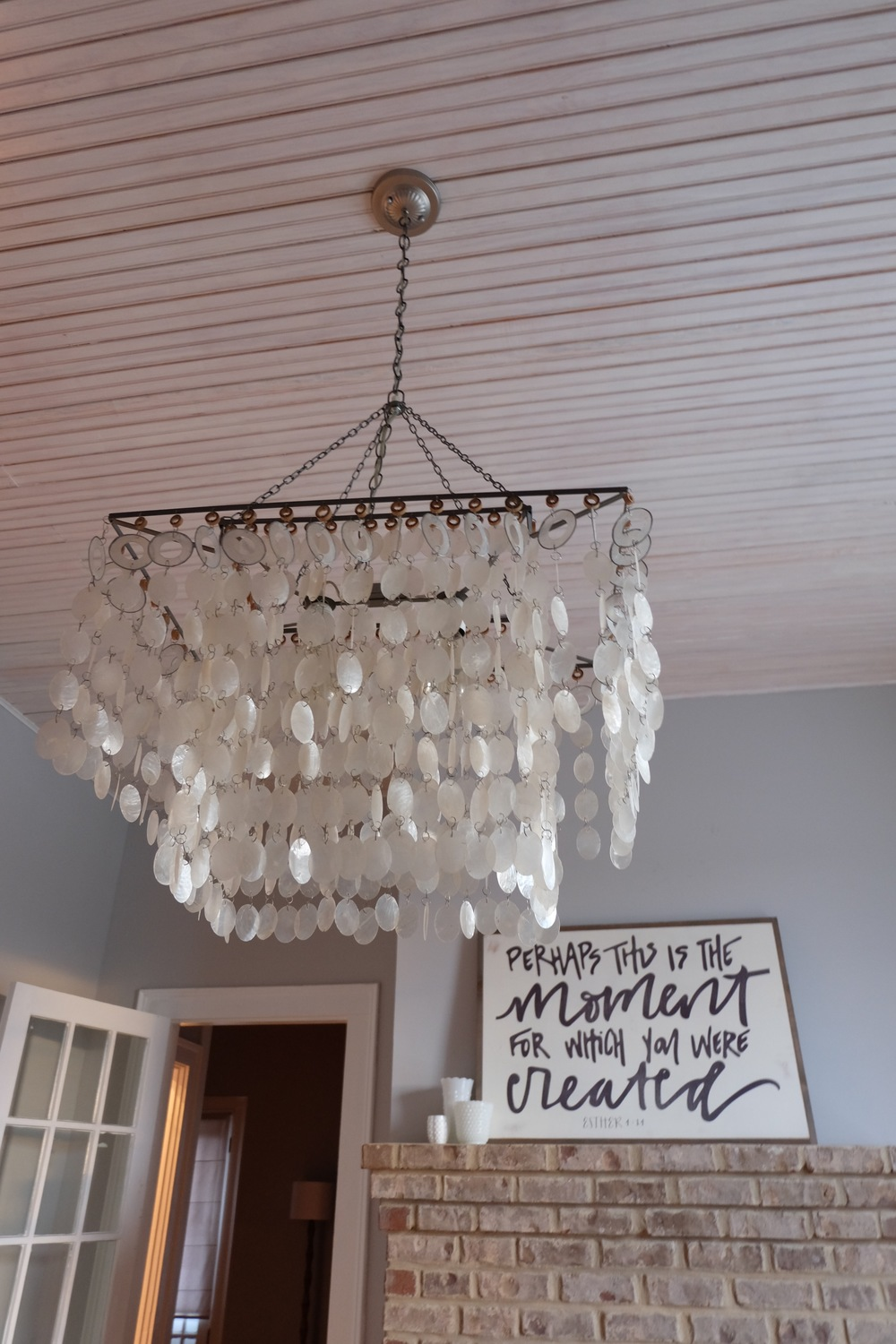 Here are a few details in our dining room!! My inspiring message is from  Between You & Me Designs!  I love it!