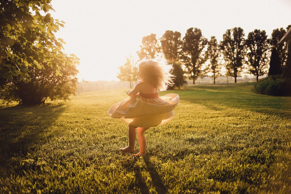 She is always dancing and twirling in the sunlight. I hope she remembers how fun and carefree her childhood was and most importantly, all my love for her.