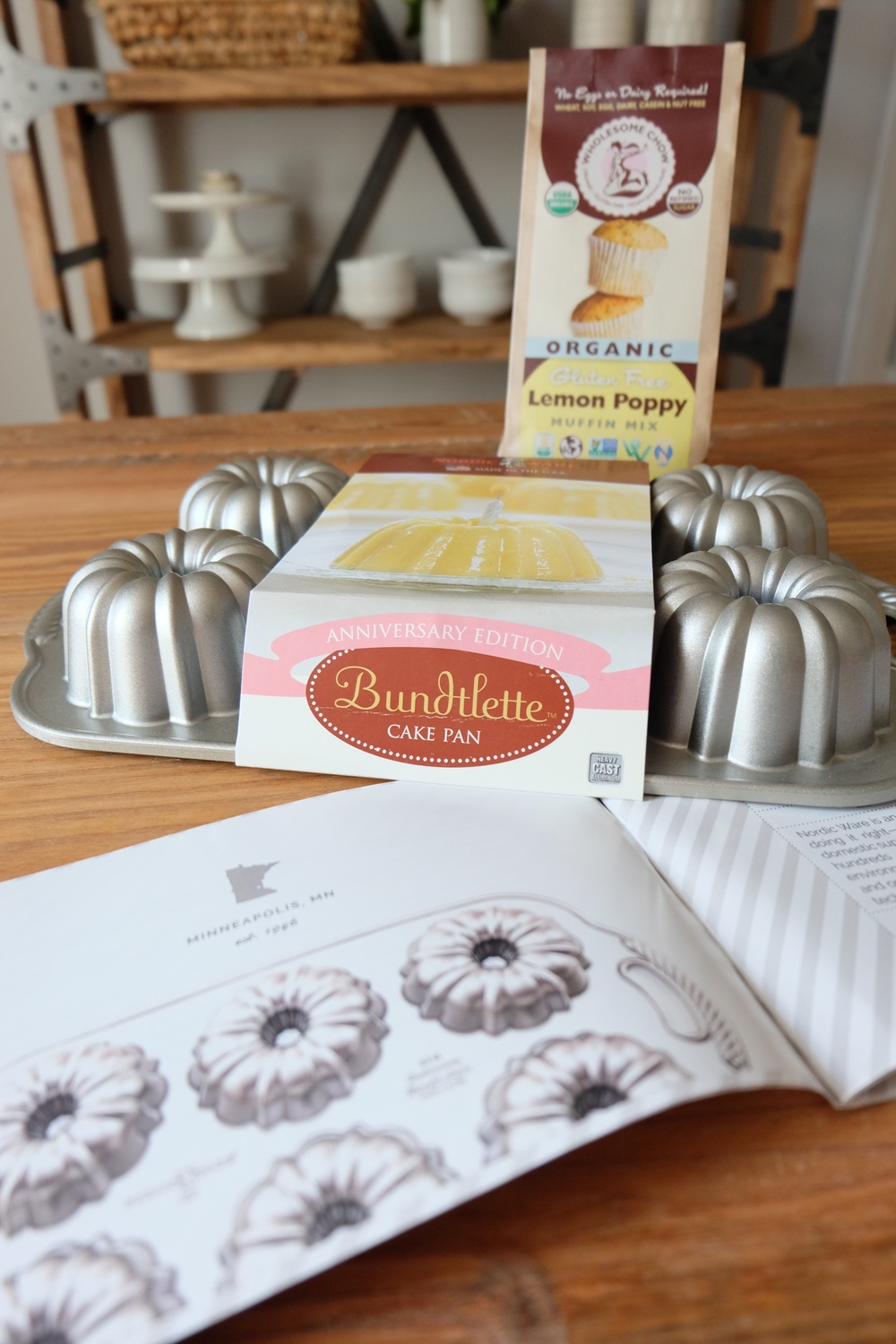 This Bundt cake pan & lemon poppy muffin mix!