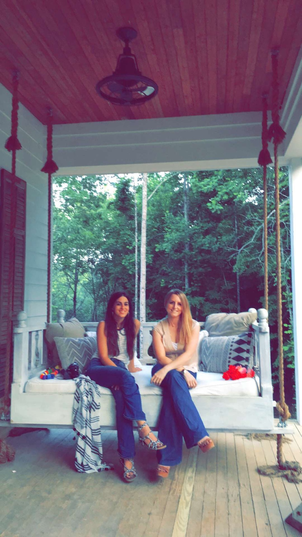 Just look at their front porch views! It's heavenly. I love her swingbed! I'm so blessed to have met such amazing people! It was honor to be around such creative souls!!