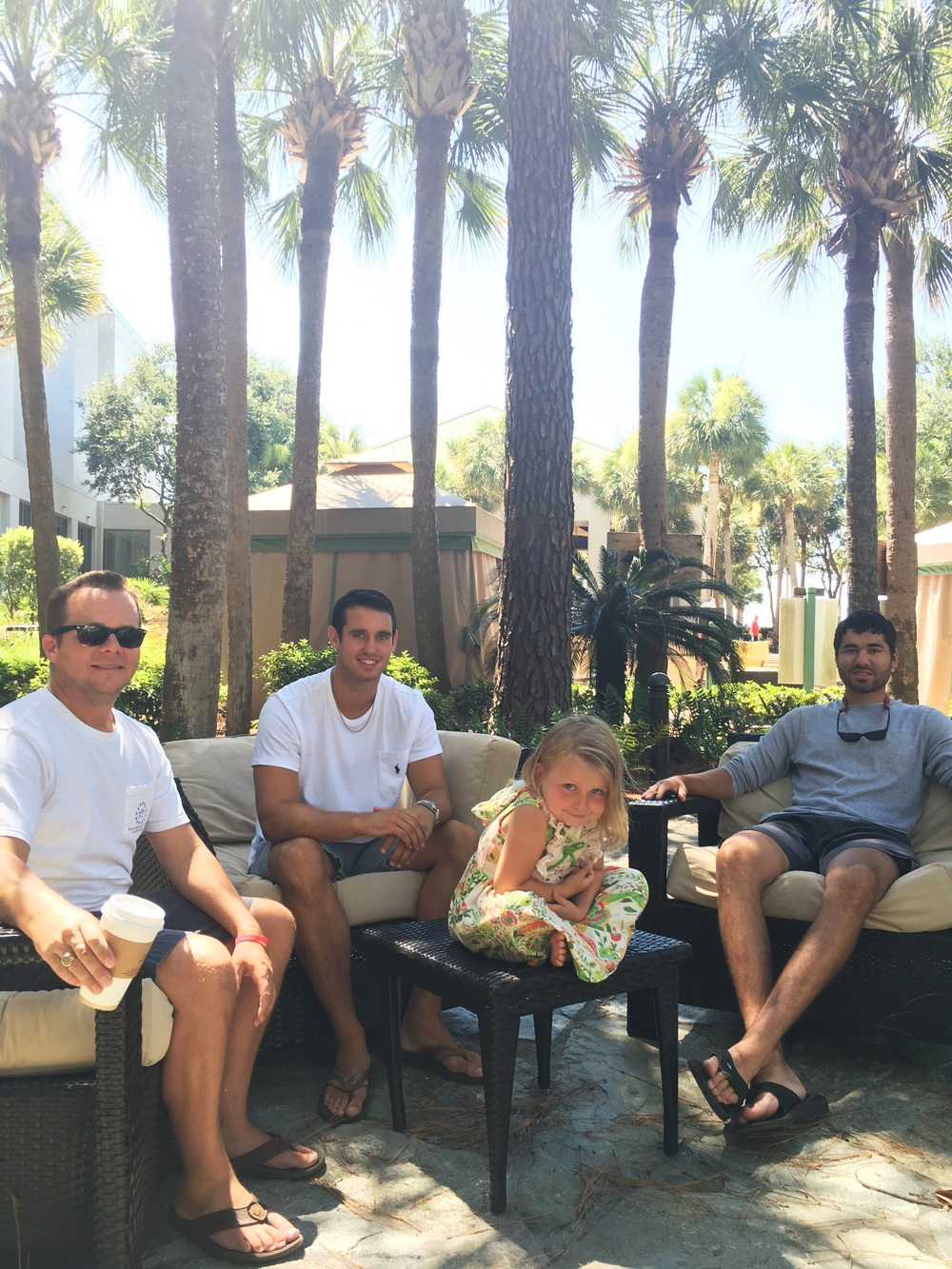 Harp loved spending vacay with her Uncle Sam and friends! We love our framily!  The guys loved hanging out by the pool bar and the private beach.