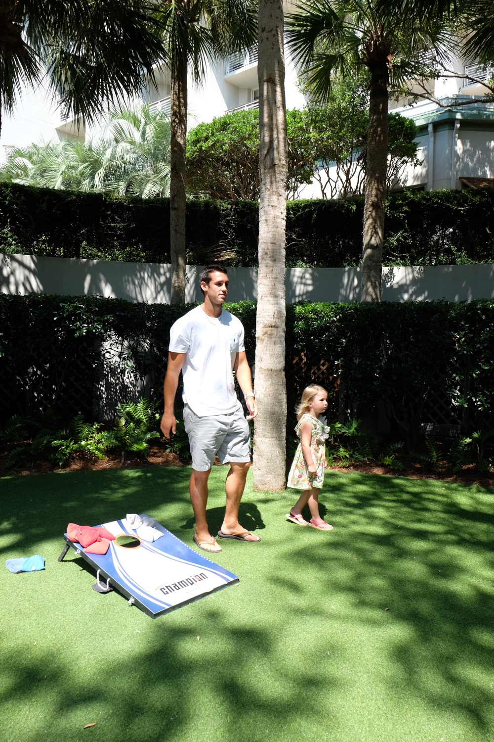 Brandon & Harper played a lot of cornhole!