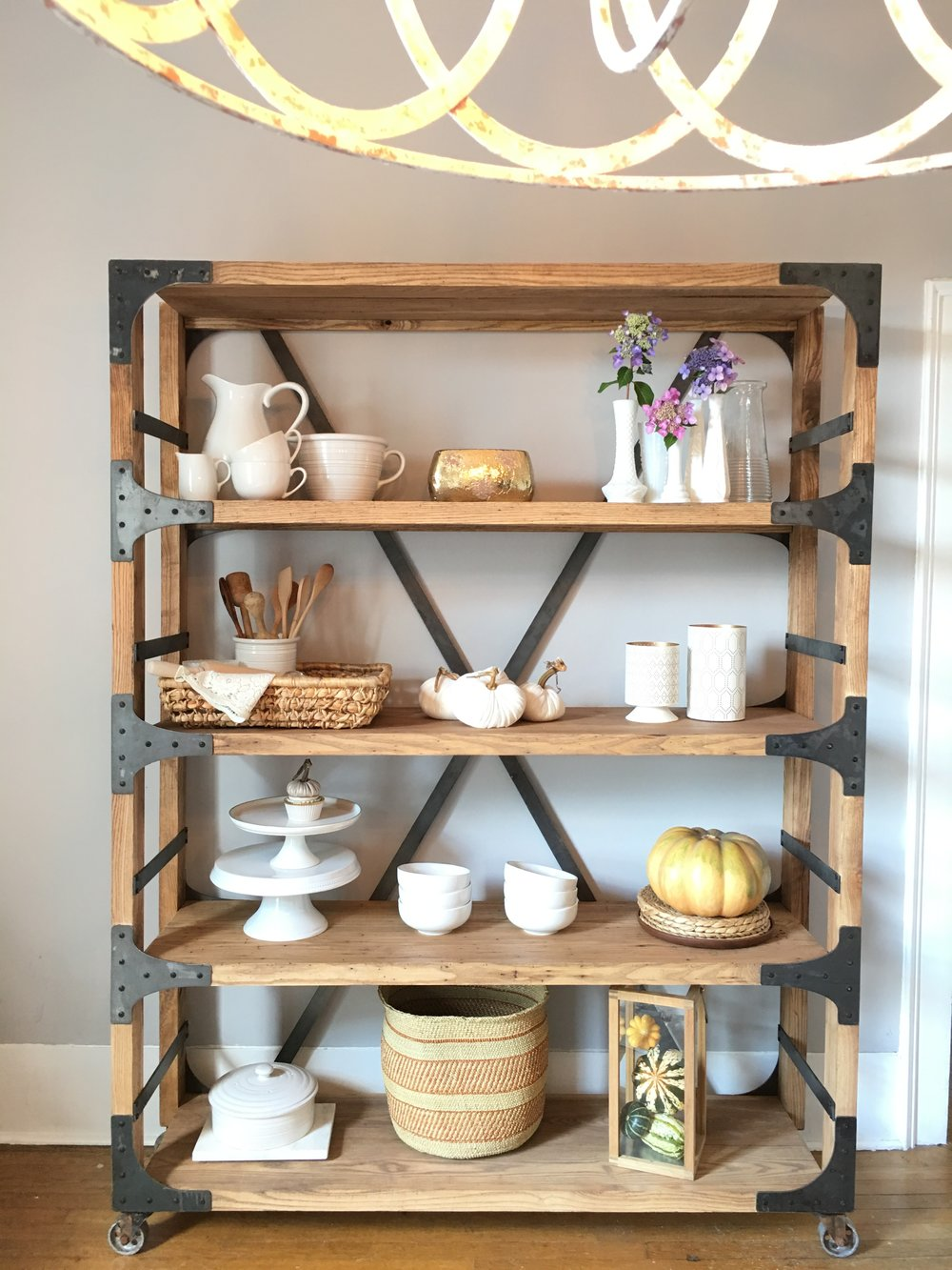 Our gorgeous shelves are made to order for now! They can be customized in size to fit your needs. It is super durable and the quality is honestly out of the world.      I hope you are following @whiteshantydesign too and watching it all unfold very soon. It's such an honor to work them and I can't wait to help you turn your house into a home with our beautiful furniture line.     Ps get ready for birthday pics this week and bring on Harper's bday party Saturday!! Love y'all! Thanks for stopping by and for all your love and support!! Harper and I appreciate it so much!   XOXO,  Sarah