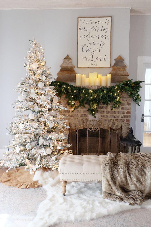 cheap santas sugar cookies with farmhouse christmas decor fireplace