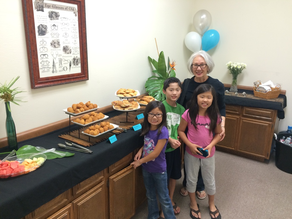 One of our favorite families enjoying the delicious refreshments from Porto's.