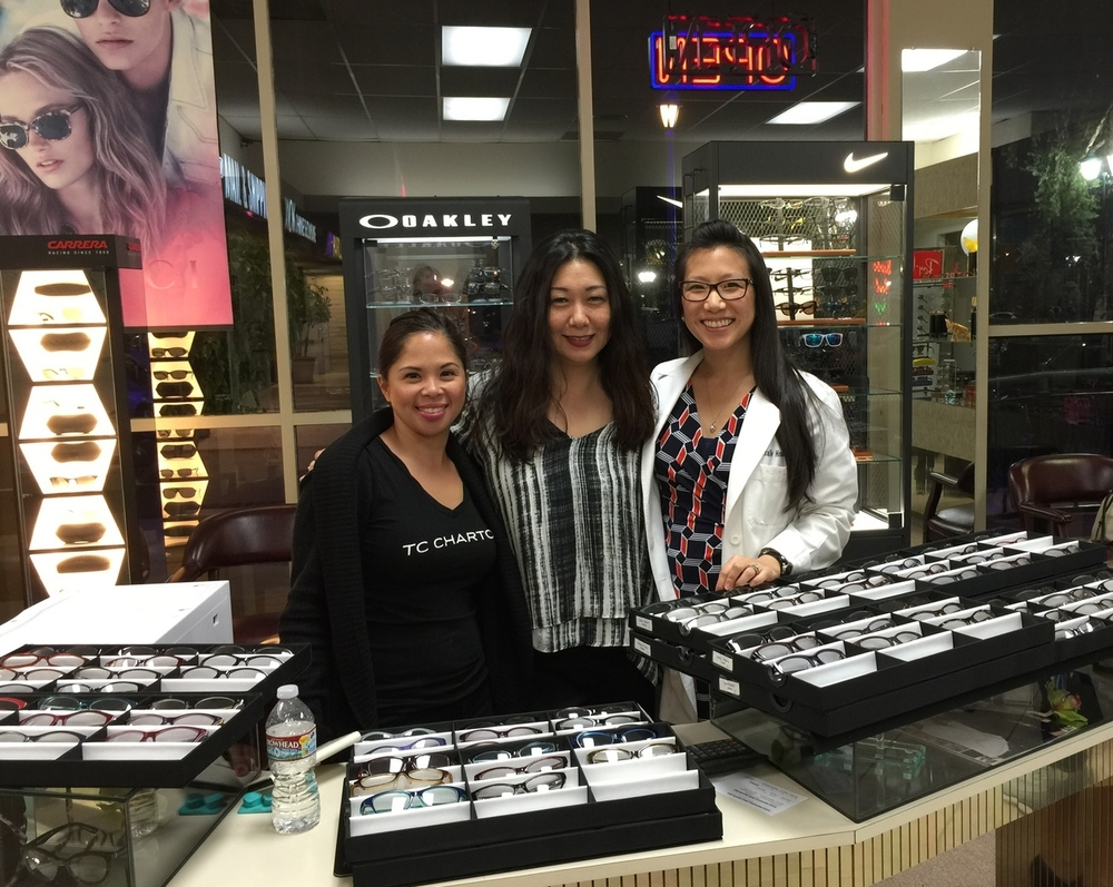 Thank you TC Charton and designer Alexandra Peng for showcasing your beautiful line of alternative fit eye wear, our patients love the amazing fit and colorful styles!