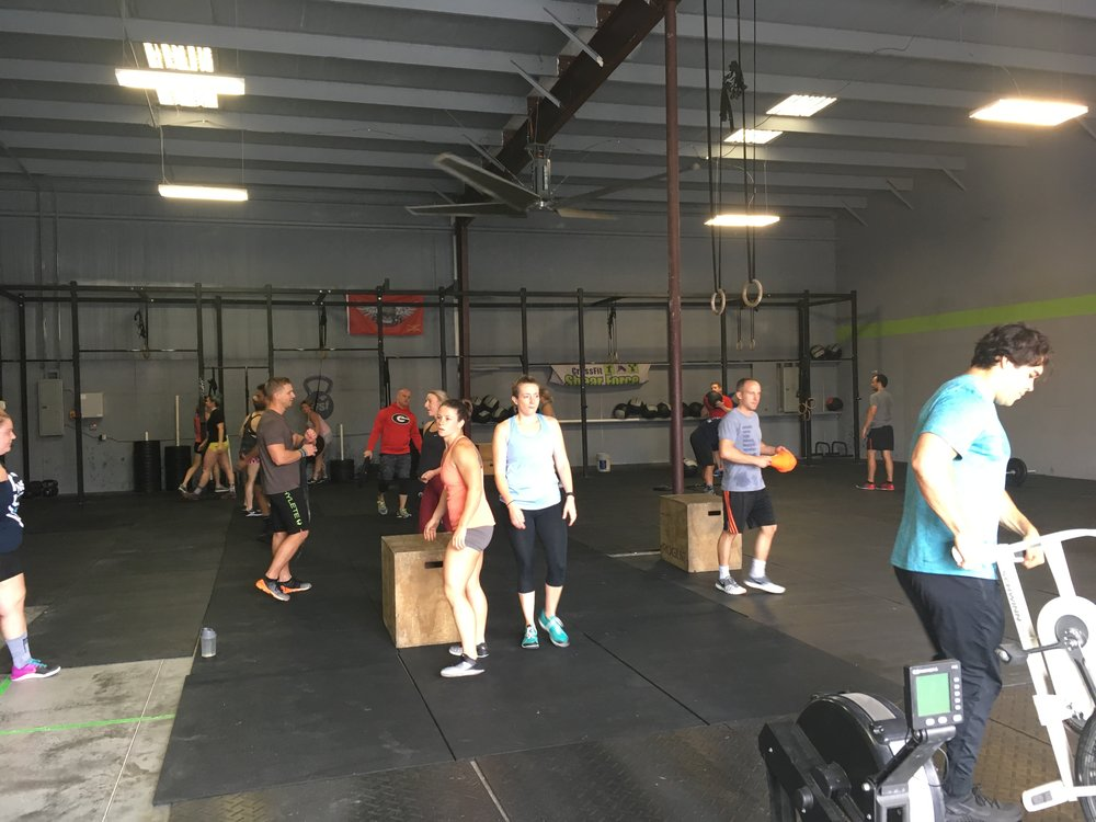 AMRAP x 10 MINUTES 2-4-6-8-10-12-14-16... Power Clean (135/95) Wall Ball (20/14)