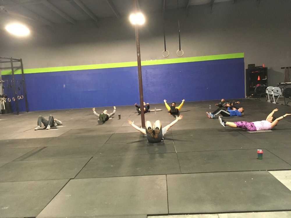 3 ROUNDS FOR TIME  10 Front Squats (135/95) (95/65)  15 Gymnastic Kip Pull-ups  20 Box Jumps (24/20)