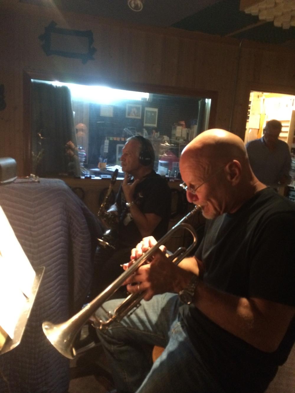 Jerry Bergonzi, Ken Certvenka, at PBS Studios, Westwood, MA 2014