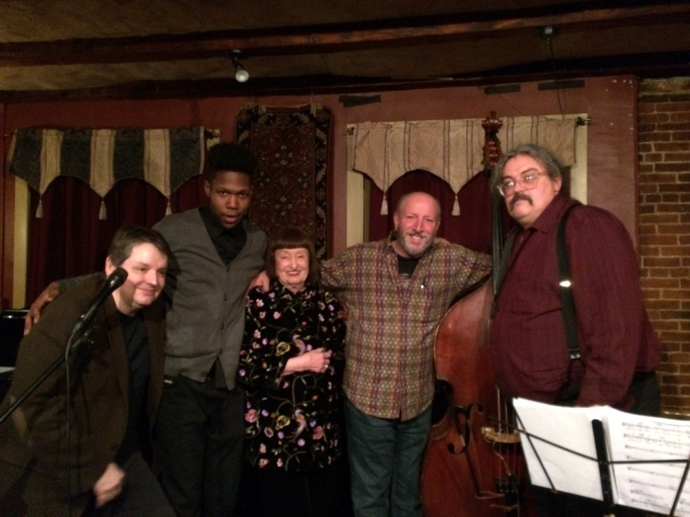 Russ Hoffmann, Austin Williams, Sheila Jordan, BG, Scott Mullet at the Pressroom, Portsmaouth, NH