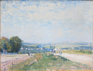 My favorite painting in the Musee de l'Orangerie. (Alred Sisley)