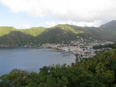 The town of Soufriere, from above. 2 Coves over from where we stayed.