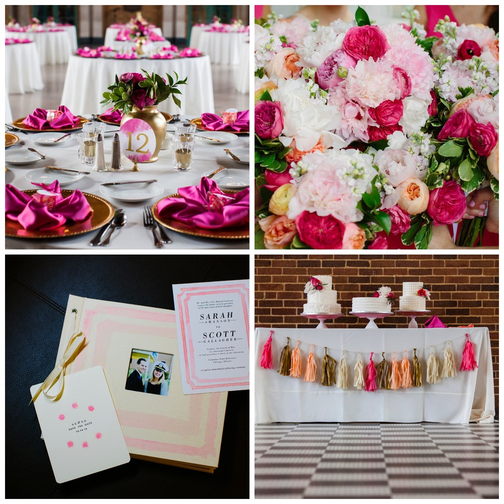 A gorgeous Spring Chicago Pink Wedding | The Gallivant