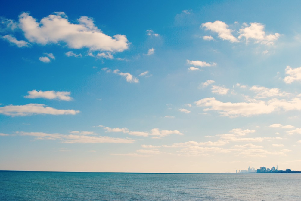 Lake Michigan, Chicago in the background. | Photo: Author