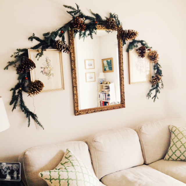 Homemade Pine Cone and Fir Garland // Christmas Decor // The Gallivant