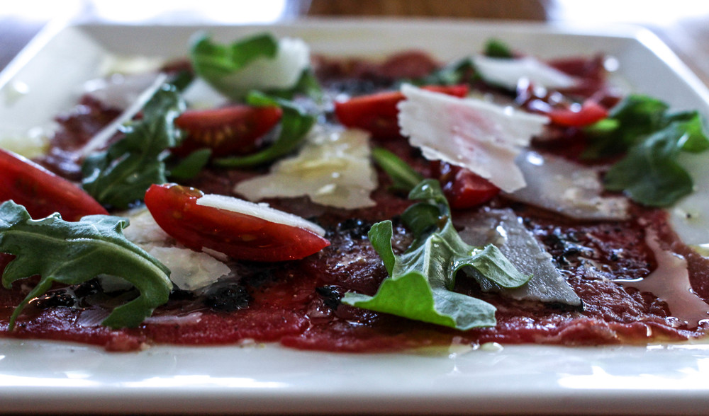 Beef Carpaccio | George Artisan | Pensacola | The Gallivant