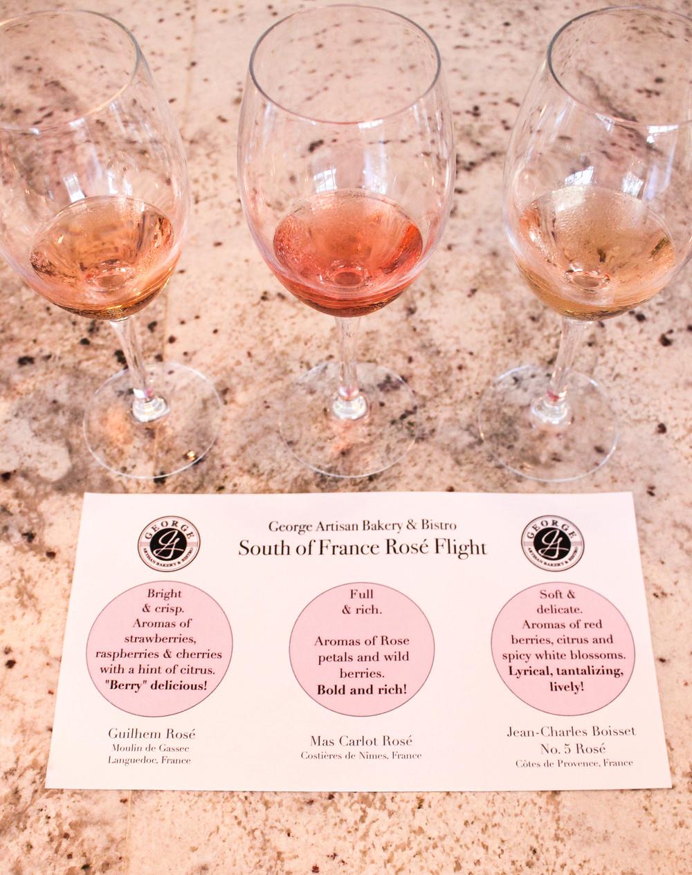 Rosé Flight | George Artisan | Pensacola | The Gallivant