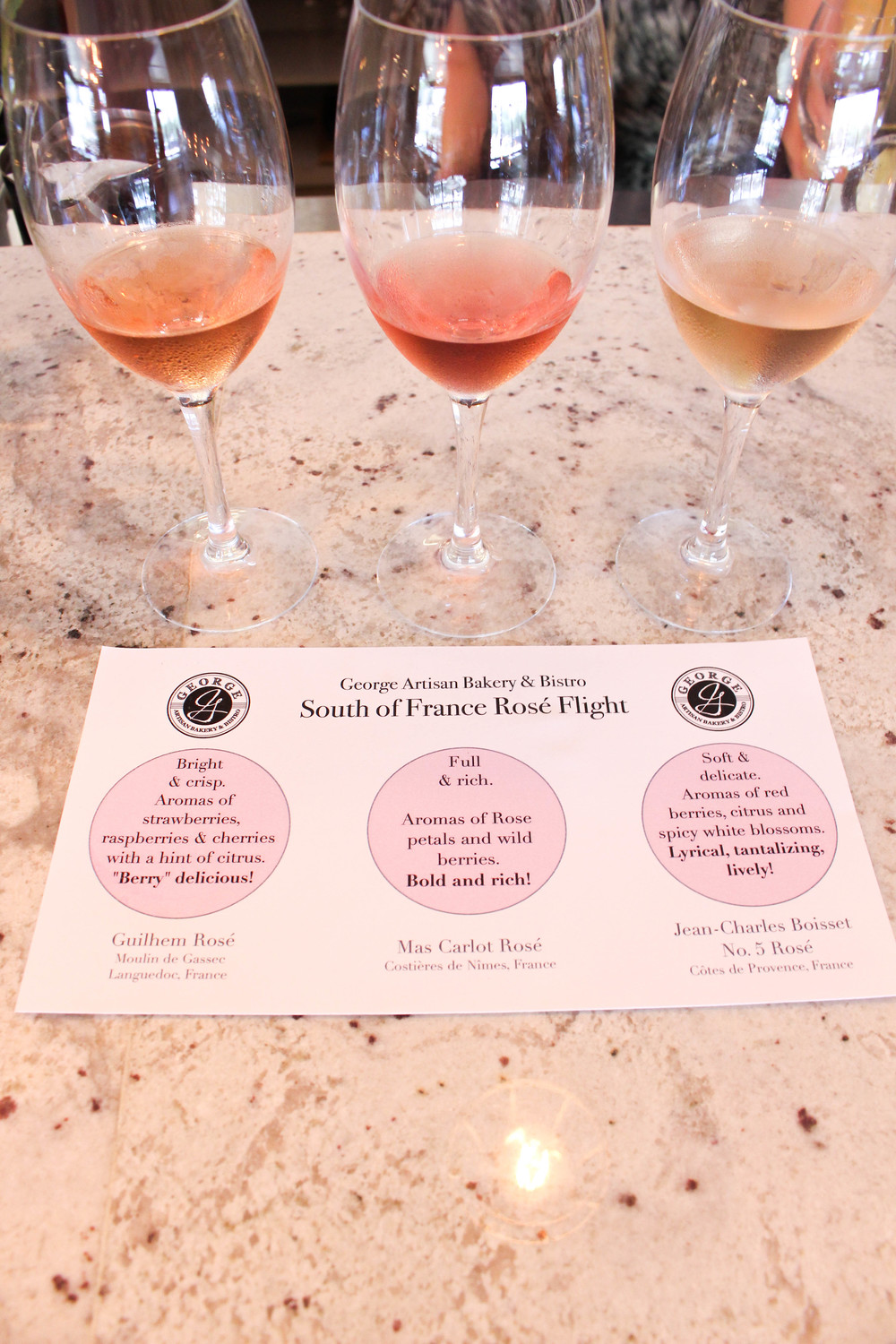 Rosé Flight | George Artisan | Pensacola | The Gallivant