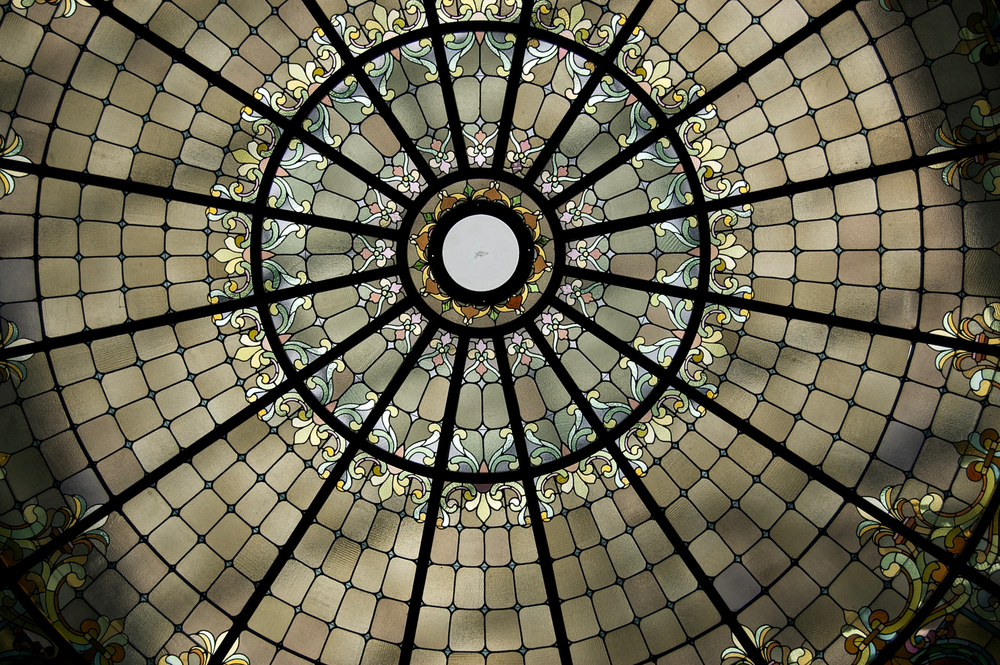 Stained Glass Ceiling. The  State Capitol Building. Madison, Wisconsin. September 2011. © William D. Walker