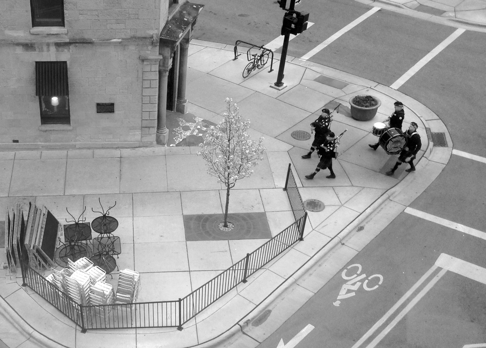 Pipers. Downtown. Madison, Wisconsin. April 2016. © William D. Walker