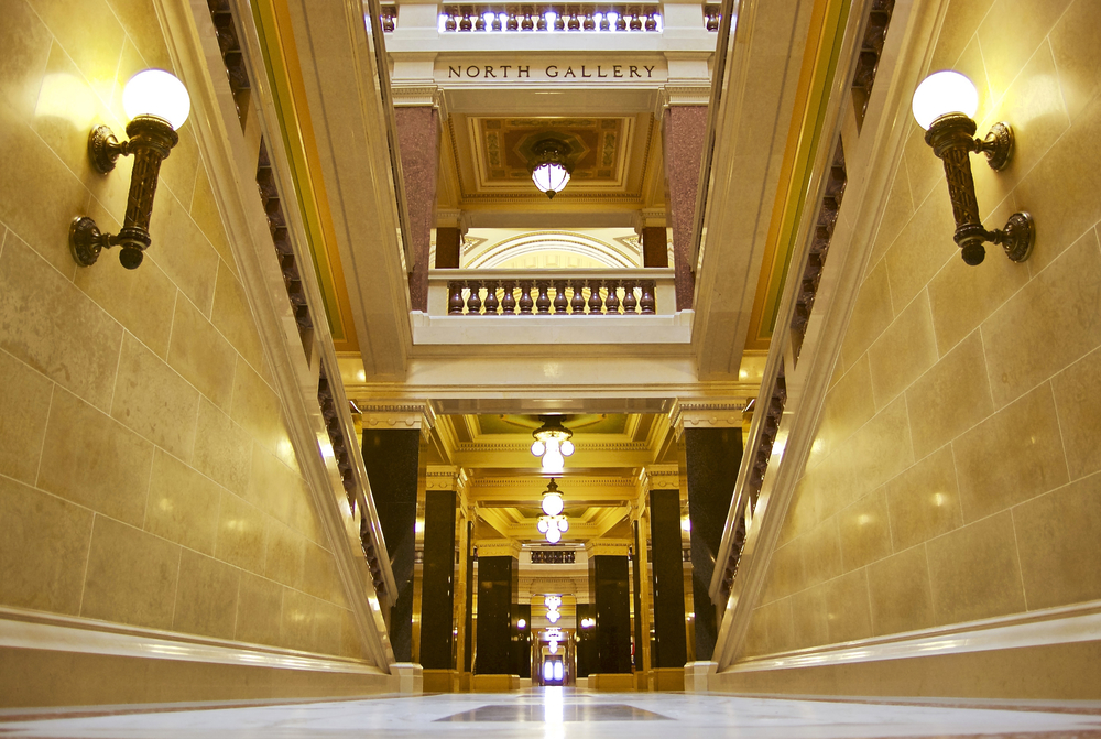 Capitol Hallway. State Capitol. Madison, Wisconsin. May 2016. © William D. Walker