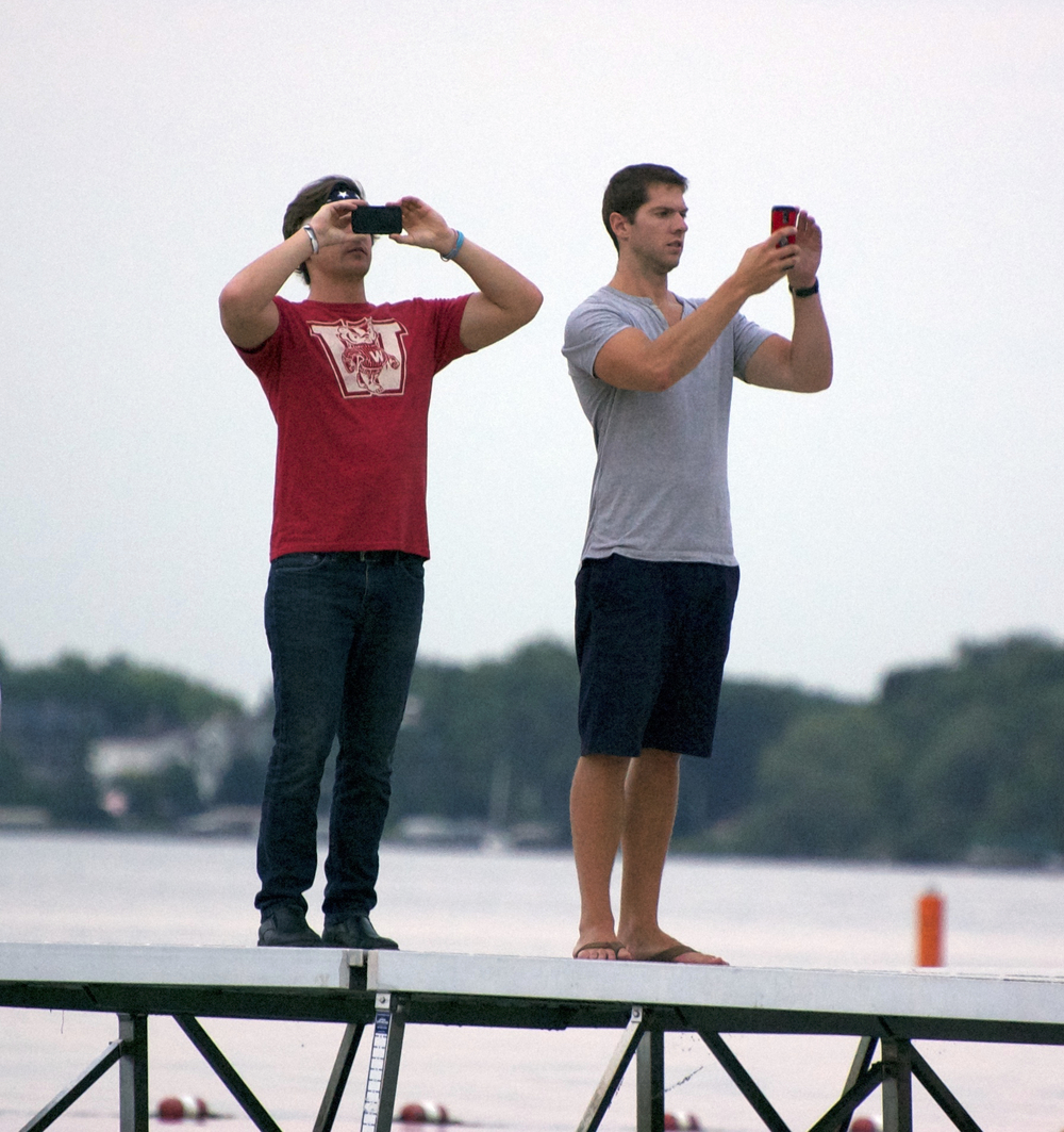Camera Men. Memorial Union Terrace. Madison, Wisconsin. July 2014. © William D. Walker