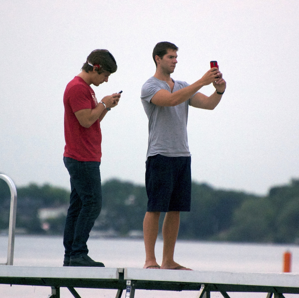 Camera Men 2. Memorial Union Terrace. Madison, Wisconsin. July 2014. © William D. Walker