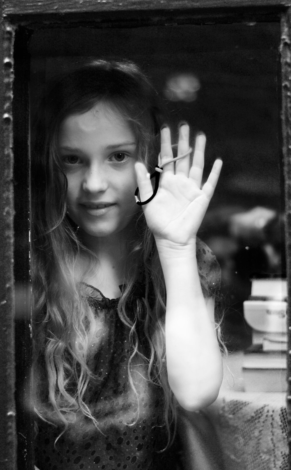 Life Through a Window (B/W). Madison, Wisconsin. July 2016. © William D. Walker