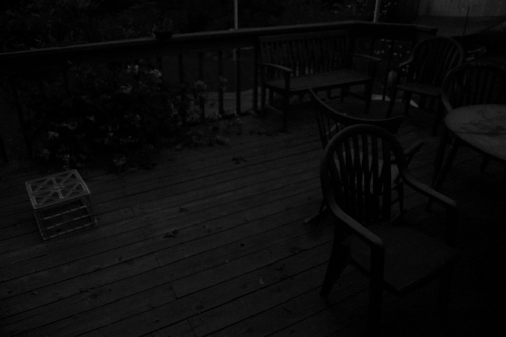 Deck at Night. Madison, Wisconsin. June 2016. © William D. Walker