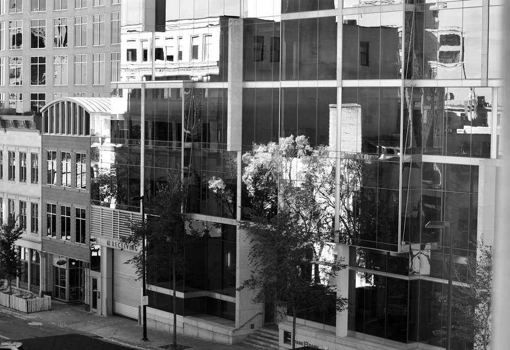 Glass Building. South Pinckney Street. Madison, Wisconsin. October 2016. © William D. Walker
