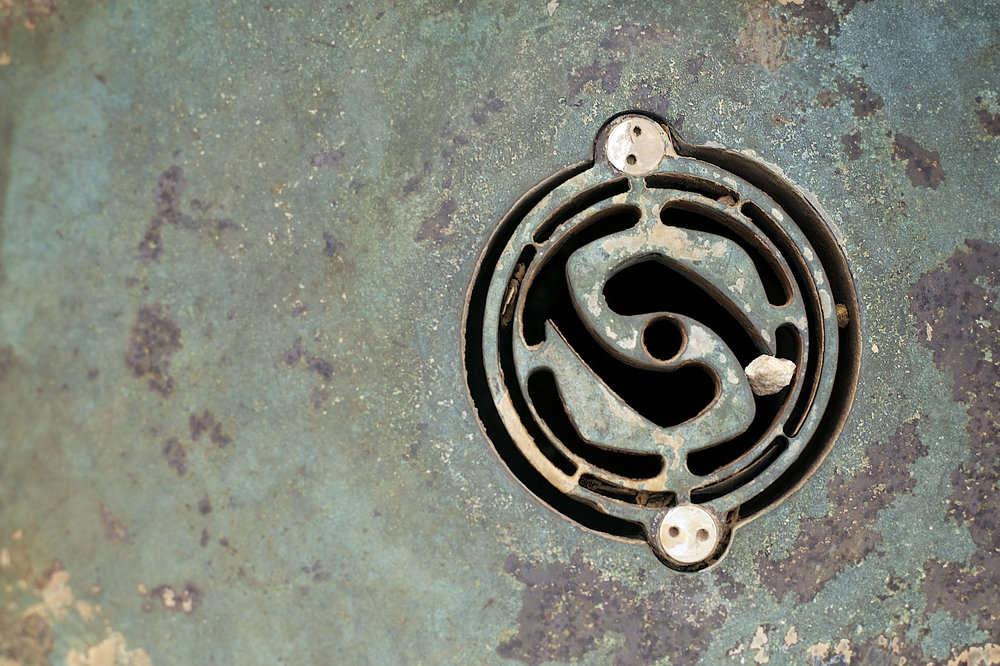 Drain. Capitol Square. Madison, Wisconsin. May 2014. © William D. Walker
