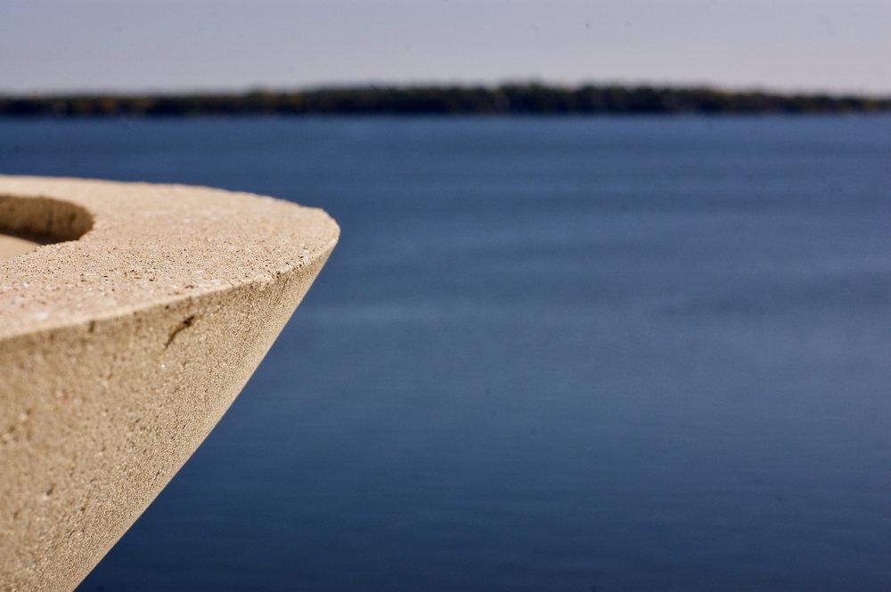 Ledge. Monona Terrace. Madison, Wisconsin. October 2016. © William D. Walker