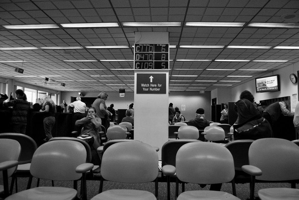 Your Number. DMV. Madison, Wisconsin. October 2014. © William D. Walker