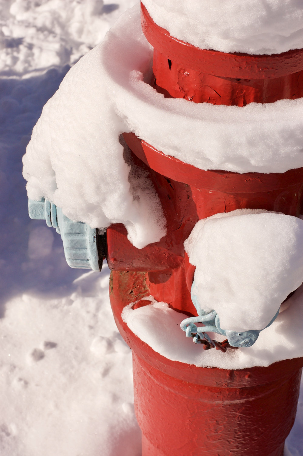 Snow Hydrant. Madison, Wisconsin. November 2015. © William D. Walker