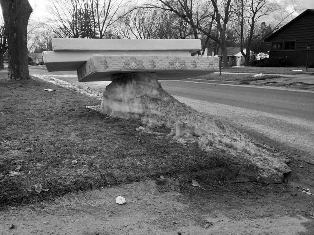 Mattresses. Madison, Wisconsin. March 2014. © William D. Walker