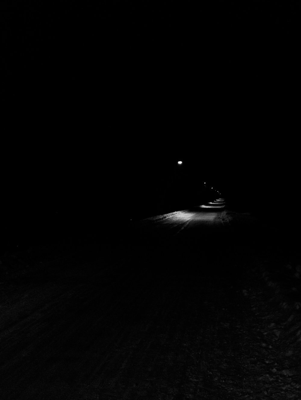 Night Path. Southwest Path. Madison, Wisconsin. January 2014. © William D. Walker