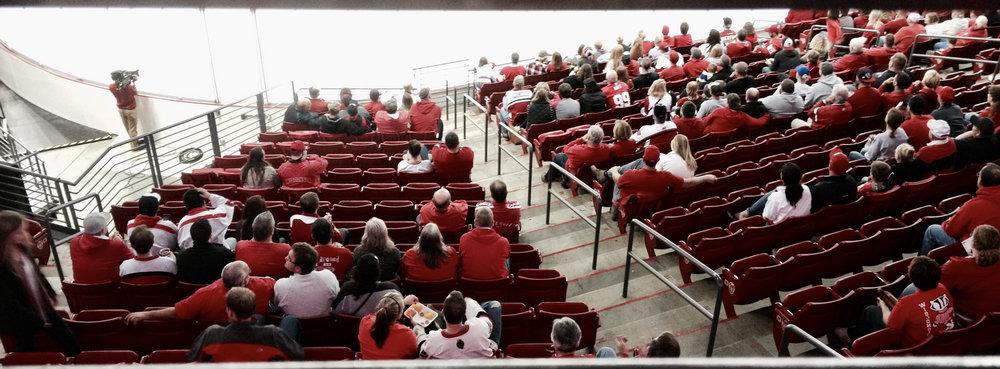 Hockey Fans. Kohl Center. Madison, Wisconsin. October 2016. © William D. Walker