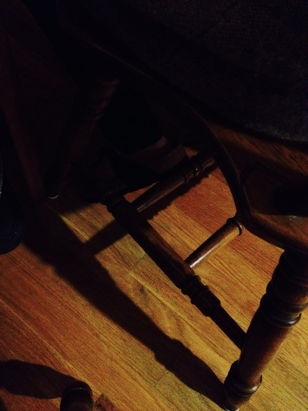 Chair leg. Madison, Wisconsin. October 2016. © William D. Walker