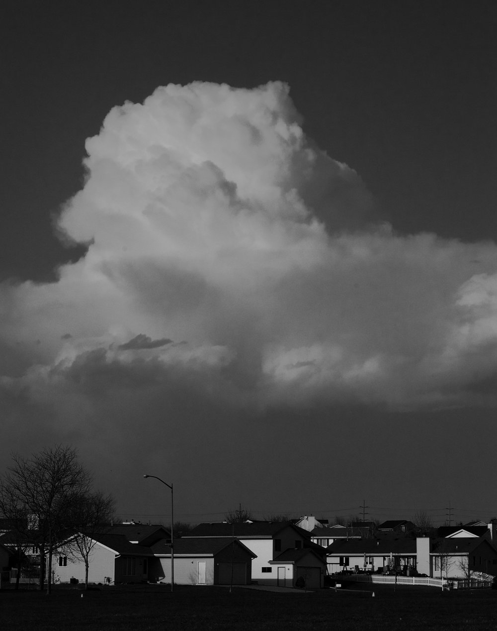 Looming Cloud. Madison, Wisconsin. May 2014. © William D. Walker