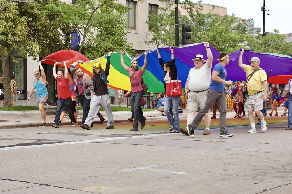Pride. Capital Square. Madison, Wisconsin. June 2015. © William D. Walker